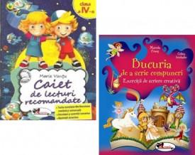 Pachet Lectura - clasa a IV-a: Caiet de lecturi recomandate si Bucuria de a scrie compuneri