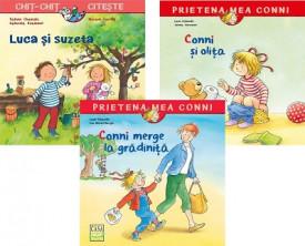 """Pachet START - """"Conni si olita"""", """"Luca si suzeta"""", """"Conni merge la gradinita"""""""