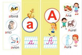 Alfabetul vesel ilustrat  - set de 40 de planse pebtru clasa I - plansa 1