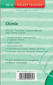 Pocket Teacher. Chimie. Clasele a VII-a - a X-a - coperta 4
