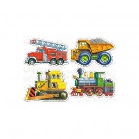 Set 4 puzzle-uri mijloace de transport