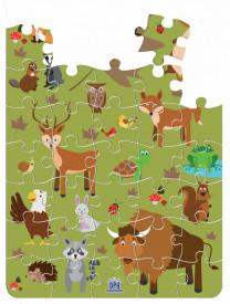 Animale din padure - puzzle de 40 de piese - interior
