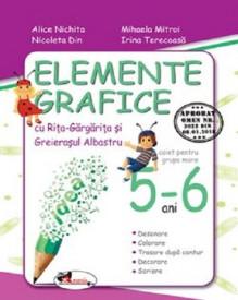 Elemente grafice cu Rita Gargarita si Greierasul Albastru. 5-6 ani