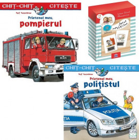 "Pachet Meserii - ""Politistul"", ""Pompierul"" si ""Jocul meseriilor"""