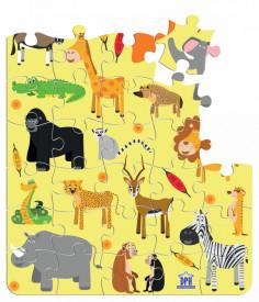 Animale din Africa - puzzle de 40 de piese - interior