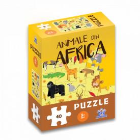 Animale din Africa - puzzle 40 de piese