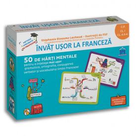 Invat usor la franceza - 50 de harti mentale. Vol. 1 - Clasa pregatitoare, clasa I, clasa a II-a
