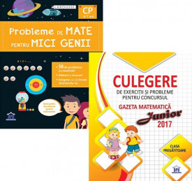 Pachet Sunt bun la mate - clasa pregatitoare: Probleme de mate pentru mici genii, Culegere de exercitii si probleme Gazeta Matematica Junior