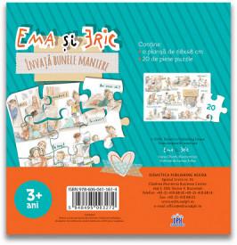 Ema si Eric invata bunele maniere - puzzle gigant - verso cutie