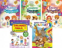 Pachet Activitati de gradinita - 4-5 ani: Activitati matematice; Educarea limbajului; Cunoasterea mediului; Marea carte de colorat 4-5 ani; Evaluarea finala in gradinita 4-5 ani