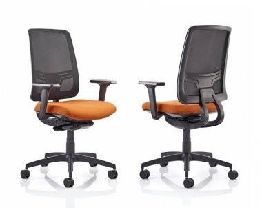 Mesh orange kancelarijske stolice