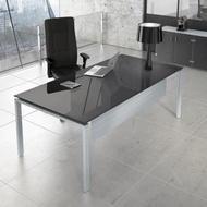 Lumino Grey kancelarijski sto metal, staklo