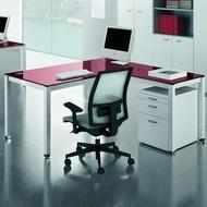 Purple -rain metal stklo radni office desk