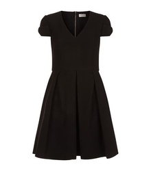 Fit-and-Flare Bow Sleeve Dress