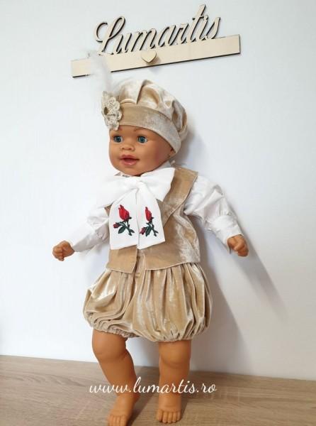 "Costum botez ""Prinț Louis"" - Bej"