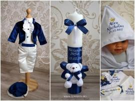 """Set botez-""""Micul Prinț"""" - Bleumarin"""