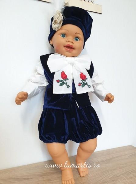 """Costum botez """"Prinț Louis"""" - Bleumarin"""