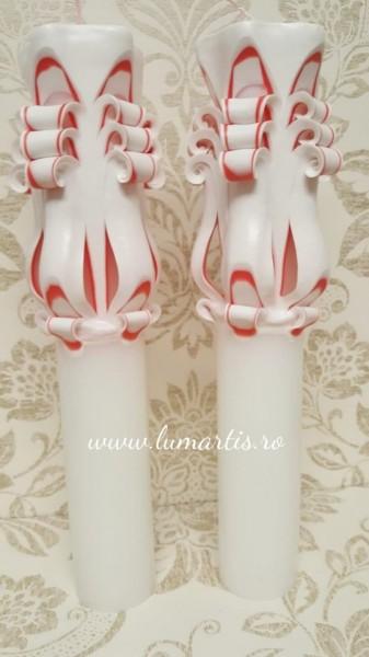 Lumânare de nuntă sculptată LS Roșu - 6,4x40 cm