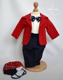 Costum botez - Raiat Roșu (matlasat, sezon rece)