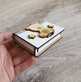 """Cutiuță din lemn pentru """"prima șuviță"""" - Ursuleț"""