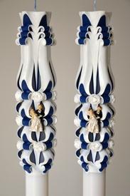Lumanare de nunta sculptata LN 605 D46x60 Bleumarin