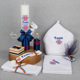 Set botez CLASIC 002 (lumânare și trusou)