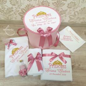 """Trusou botez Deluxe 037 - """"Princess"""" - roz pudrat"""