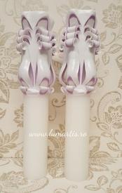 Lumânare de nuntă sculptată LS - Lila - 6,4x40 cm