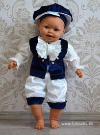 Costum botez Micul Marchiz, Bleumarin
