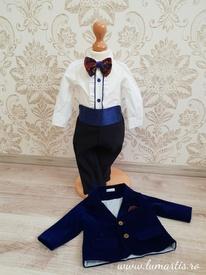 Costum botez Ralph - Bleumarin