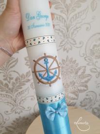 lumanare de botez micul marinar