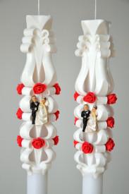 Lumanare de nunta sculptata LN 601 Alb