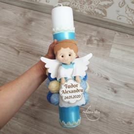 Lumânare de botez cu îngeraș LB 487