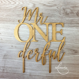 "Cake Topper - ""Mr ONEderful"""