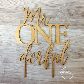"Cake Topper - ""Mr ONEderful"""