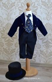 """Costum botez """"Micul Dandy"""", Bleumarin"""
