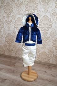 Costum botez Micul Prinț - Bleumarin (matlasat, sezon rece)