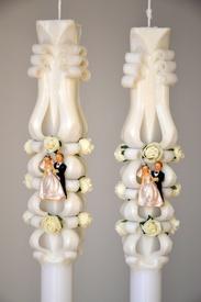 Lumanare de nunta sculptata LN 602 D36x90 Crem