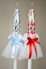 Aranjament pentru lumanare de nunta 003