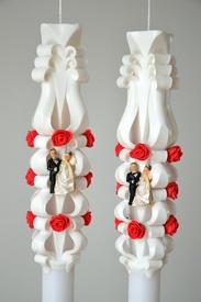 Lumanare de nunta sculptata LN 601 D36x90 Alb