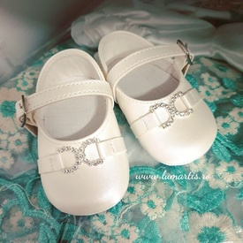 Pantofiori botez- Ivory