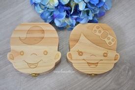 Cutiuță din lemn pentru primii dințișori