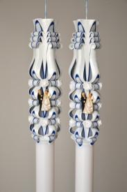 Lumanare de nunta sculptata LN 607 Bleumarin