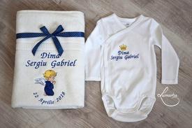 Cadouri bebeluși - set body și prosop BB1