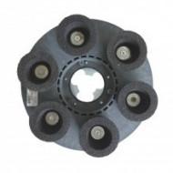 Disc cu 6 pietre abrazive ceașcă granulația 24 pentru monodiscuri diametru 43 cm