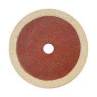 Tampon de lână pâslă diametru 178 mm Mag Tools verso