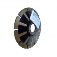 Disc diamantat convex pentru taiere curbilinie, diametru 125 mm