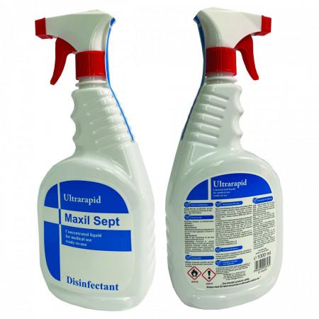 Spray Dezinfectant ultra-rapid Maxil 1Litru