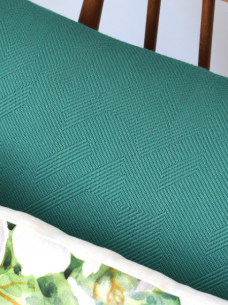 Cojín Verde de Jacquard