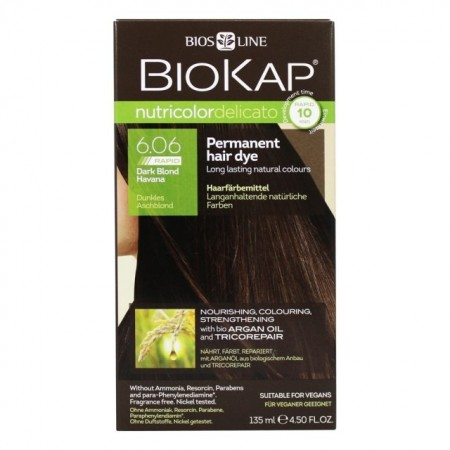 Slika BIOKAP Delicato Rapid farba za kosu 6.06 tamno plava 135ml